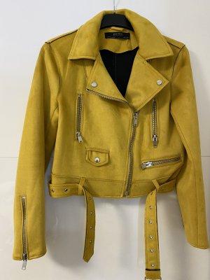 Zara Biker Jacket gold orange-sand brown