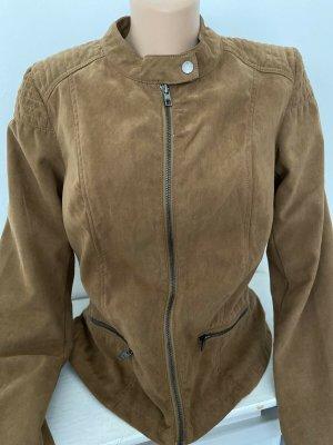 Biker Jacket cognac-coloured