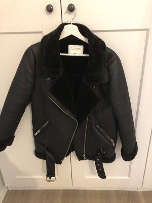 Zara Kurtka typu biker czarny