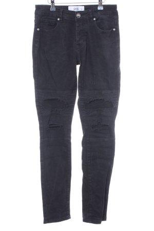 Jeans da motociclista antracite-nero