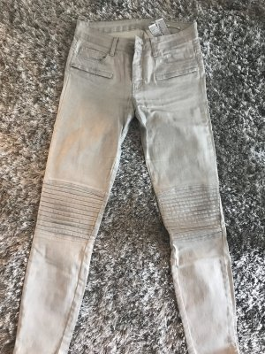 Zara Woman Jeans de moto gris clair
