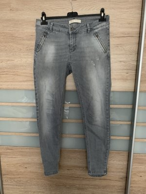 Zara Jeans da motociclista multicolore