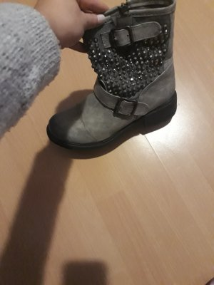 no name Biker Boots grey-dark grey