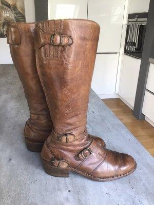 Belstaff Biker Boots cognac-coloured leather