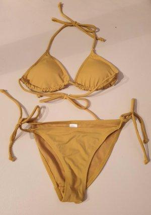 keine Marke Bikini piaskowy brąz