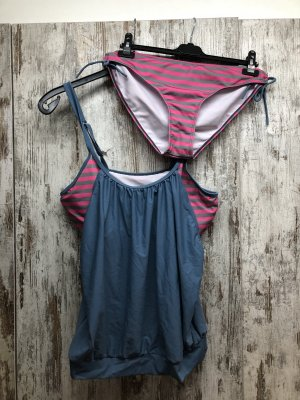/ Bikini gris pizarra-rosa
