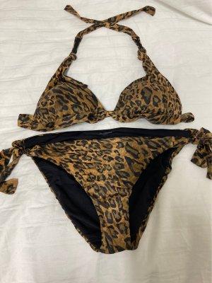 Calzedonia Bikini negro-color bronce
