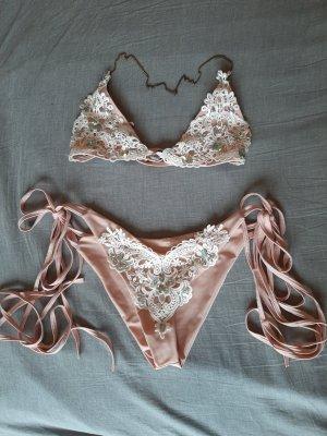 SheIn Bikini wit-stoffig roze