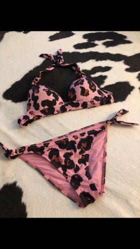 Bikini Badeanzug pink schwarz xs s 34 36 Push up seafolly Mode Blogger