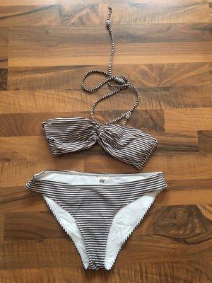Bikini braun weiß