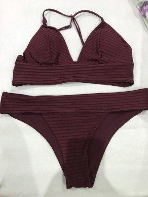 H&M Bikini bordeaux-marrone-rosso