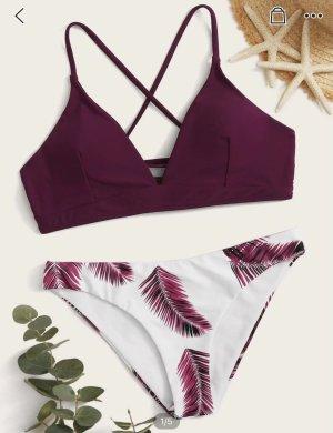SheIn Bikini blanc-violet