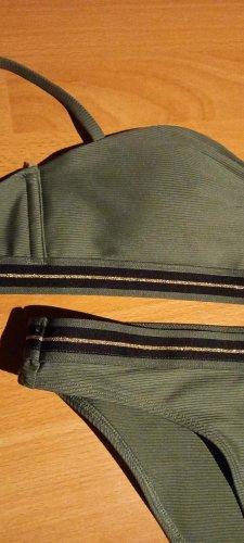 Bikini Gr 34 von C+A khaki/olivfarbig