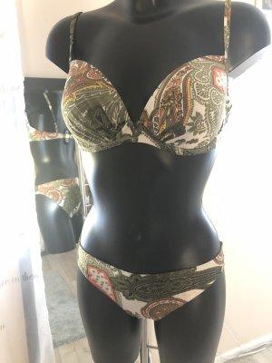 Bikini khaki/orange, Größe 40/D