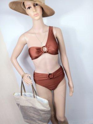 SheIn Bikini brown-cognac-coloured