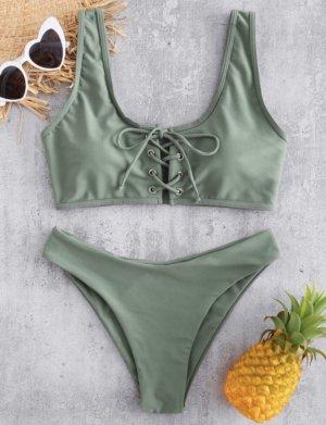 Bikini Mint/olivgrün
