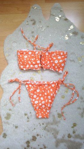 SheIn Bikini blanco-naranja