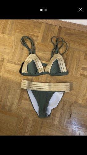 Bikini Olive-gold Größe S / B-Körbchen