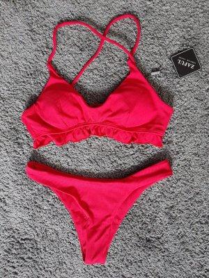 Bikini Rot Rüschen