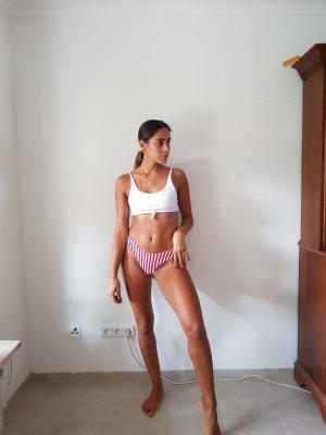 Bikini rot/weiß