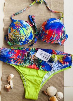 Bikini verde-azul