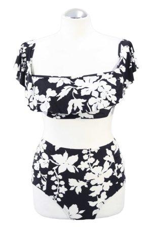 Bikini-Set in Schwarz-Weiß