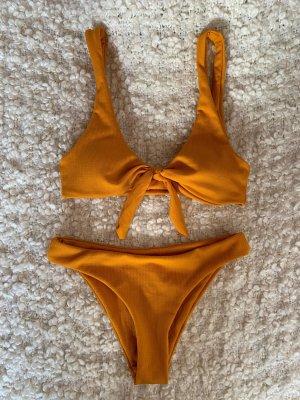 Zaful Bikini arancione chiaro-giallo-oro