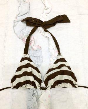 Bikini Top Oberteil H&M Gr S gestreift braun weiß