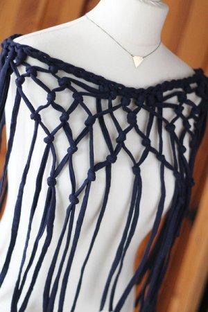 Beachwear dark blue cotton