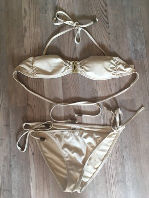 Bikini von H&M in Gold Größe 36/38