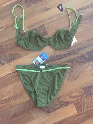Bikini zielono-szary-zielona łąka