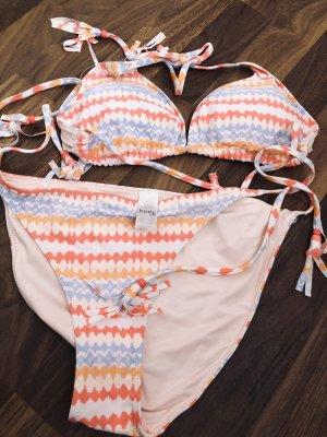 Bikini von TK-Maxx, Rosa / Weiß gr.36/38, Cup B/C