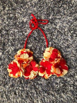 Bikinioberteil mit Blumen XS