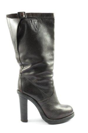 Bikkembergs Wysokie buty na obcasie czarny-brązowy W stylu casual
