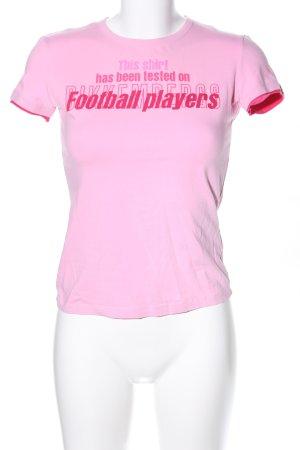 Bikkembergs Print-Shirt pink Schriftzug gedruckt Casual-Look