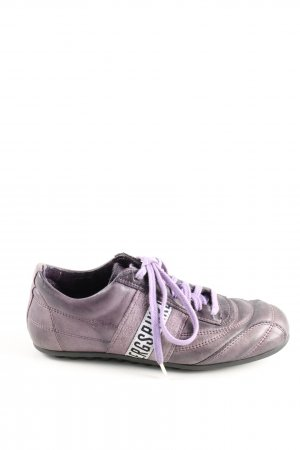 Bikkembergs Lace-Up Sneaker lilac printed lettering casual look