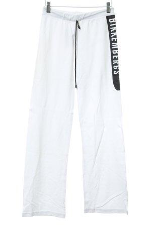 Bikkembergs Sporthose weiß-schwarz Casual-Look