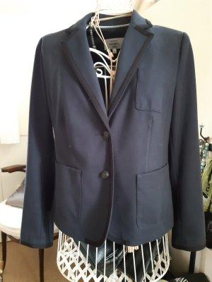 Anne L. Jersey blazer blauw