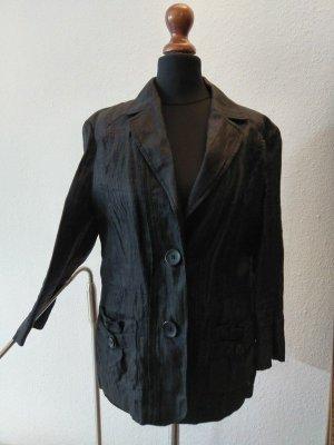 Bildschönes Leinenjäckchen, schwarz, zweimal getragen!