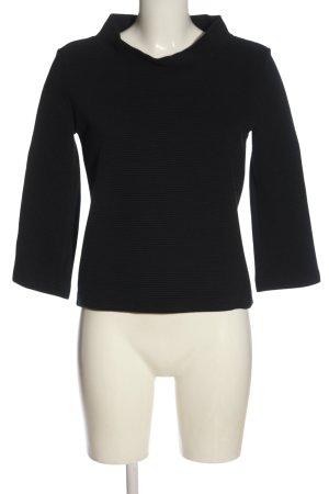 bill bill & bill Coarse Knitted Sweater black striped pattern casual look