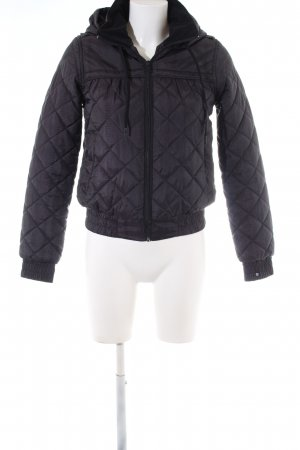 billa bong Quilted Jacket black quilting pattern casual look