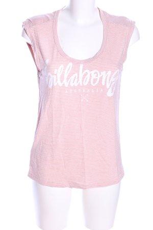 billa bong T-Shirt pink-weiß Schriftzug gedruckt Casual-Look