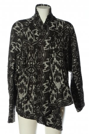Billabong Cardigan schwarz-hellgrau Allover-Druck Casual-Look