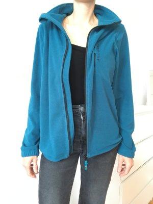 Billabong Fleece Jackets light blue-neon blue polyester