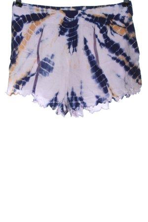 Billabong Hot Pants lila-blau abstraktes Muster Casual-Look