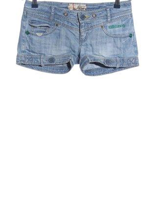Billabong Short en jean bleu lettrage imprimé style décontracté