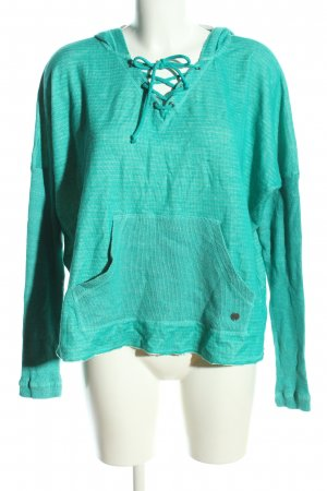 Billabong Hooded Sweater turquoise flecked casual look