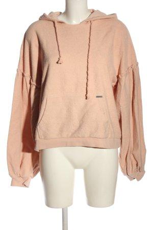 Billabong Sweat à capuche rose chair style décontracté