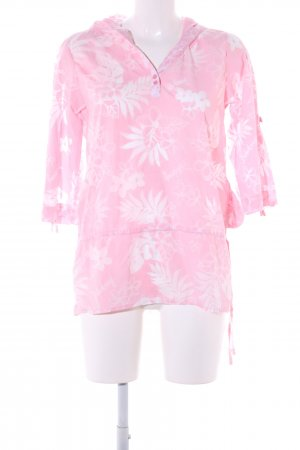 Billabong Long-Bluse pink-weiß Allover-Druck Casual-Look