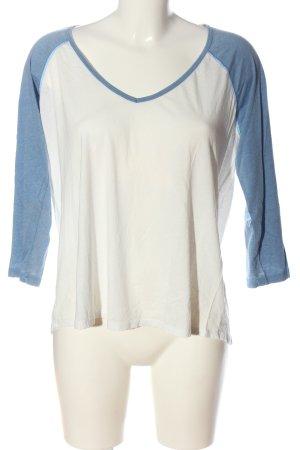 Billabong Top à manches longues blanc-bleu style décontracté